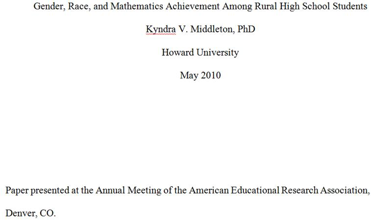 american educational research association conference papers American psychological association  annual meeting of the american educational research association,  in t a bancroft (ed), statistical papers in.