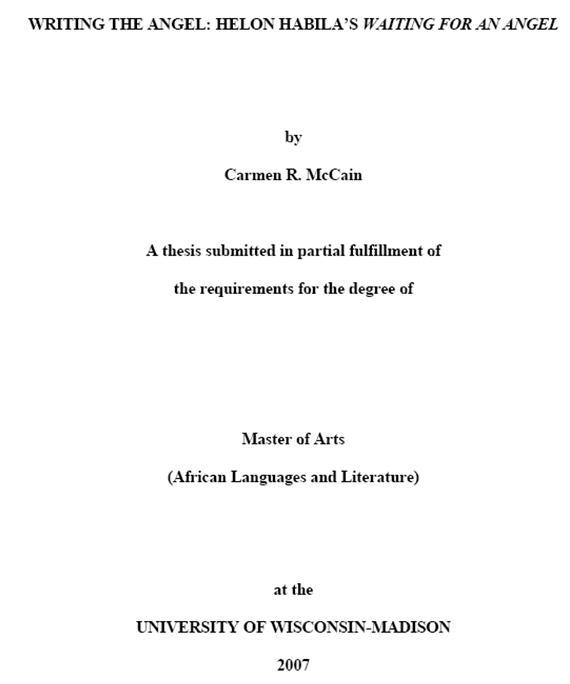 unpublished doctoral dissertation reference After the title, include the phrase unpublished doctoral dissertation in parentheses, then close that part of the citation with a period for example:  simpson, h b (1988) manic-depressive behavior in early childhood ( unpublished doctoral dissertation) 4 include the name.